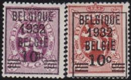 Belgie     .    OBP   .   333/334       .   *     .    Ongebruikt Met Gom   .   /   .  Neuf Avec Gomme - Unused Stamps