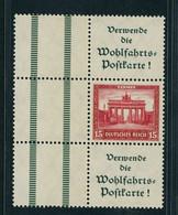 Dt. Reich Zusammendruck Nothilfe S85 Ungebraucht Falz - Zusammendrucke