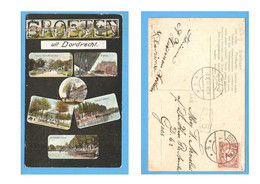 Dordrecht Fantasie Groeten Uit 6-luik 1907 RY52669 - Dordrecht