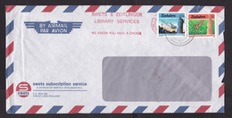Zimbabwe: Airmail Cover, 2 Stamps, Coal Mining Excavator Crane, Mine, Tea Plant (minor Damage, See Scan) - Zimbabwe (1980-...)