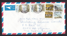 Zimbabwe: Airmail Cover To Netherlands, 1997, 3 Stamps, Mining, Mine Worker, Excavator, Drill, Heritage (cancel Stains) - Zimbabwe (1980-...)