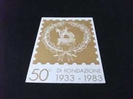 CARTOLINA POSTALE ITALIA LIRE 200 50° DI FONDAZIONE 1933 1983 ASSOCIAZIONE FILATELICA SCALIGERA VERONA 50 ESEMPLARI - Other