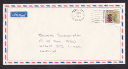 Zimbabwe: Airmail Cover To Netherlands, 1 Stamp, Water Berry, Berries, Fruit, Food (traces Of Use) - Zimbabwe (1980-...)
