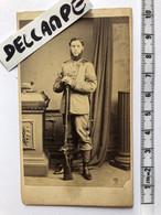 Photo Militaire Cdv 1865 England Queens Westminster Rifle Volunters Tottenham London Uk Soldier - Oorlog, Militair