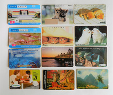 Selection Of 12 Used Collectible Phonecards - Collezioni