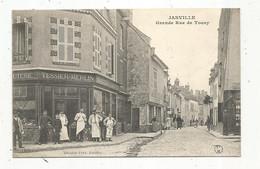 Cp , 28 , EURE ET LOIR , JANVILLE , Grande Rue De Toury , Commerce ,chacuterie Tessier-Merlin ,  Voyagée - Autres Communes