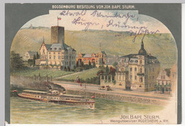 (109558) Künstler AK Rüdesheim Am Rhein, Boosenburg, Raddampfer, Feldpost 1914 - Non Classés