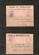 LOT DE 140 LETTRES EN FRANCHISE POSTALE DE MAIRIES DU DEPARTEMENT DU JURA ENTRE 1952 Et 1956 . - Lettere In Franchigia Civile