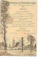 "SH 0984. N° 56 BRUGES 26 JUIN 1896 S/CP ""FEDERATION Des PHILATELISTES BELGES - VIIIe ASSEMBLEE - MENU"" - 1893-1907 Wapenschild"