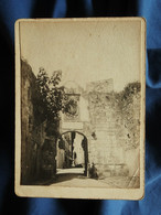 Petite Photo Sur Support Carton Anonyme  Fontarabie  Porte Des Remparts (début 20e) - L557E - Plaatsen