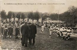 Chatillon Sur Seine La Fête-Congrés Du 16 Mai 1909 Lutte De Traction à La Corde - Chatillon Sur Seine