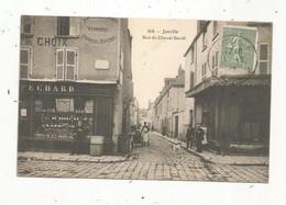 Cp , 28 , EURE ET LOIR , JANVILLE , Rue Du Cheval Bardé ,commerce ,voyagée 1924 , Ed. Lib. Vve Guilloteau - Autres Communes