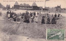 80, Le Crotoy, Construction De Forts Dirigés Par Le S.I.C - Le Crotoy