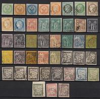 Colonies Françaises Générales 1859/1880 Collection Entre N° 2 Et 59 - TB - Aigle Impérial