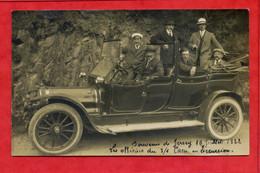 * Carte Photo à Identifier : Souvenir De Jersey - 1922 - Les Officiers Du.../1 Caen En Excursion ( Automobile Animée ) - A Identificar