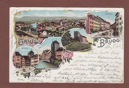 Aargau - Gruss Aus BRUGG - 1901 // Eckbug Und Kleiner Riss // - AG Argovie