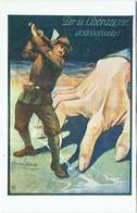 Illustrateur : MAUZAN. Per La Liberazione Sottoscrivete. Affiche De La Grande Guerre N°8. Militaria. - Mauzan, L.A.