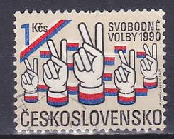 Czechoslovakia, 1990, Free General Elections, 1Kč, USED - Gebraucht