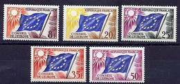 Ser02 YT 17 / 21 Conseil Europe 1960-65 N** (MNH) - Mint/Hinged