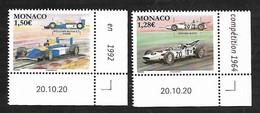Monaco 2021 -  Yv N° 3270/3271 ** - Honda RA271 - Williams Renault FW14B - Ongebruikt