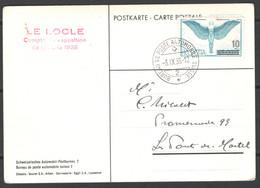 """Svizzera 1938 Postal Card """"Bureau De Poste Automobile"""" 3/9/38 VF/F - Covers & Documents"""