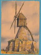 NOS VIEUX MOULINS A VENT - EN ANJOU : Sur Les Coteaux De Saumur -  Ed. Barday M. Barré Et J. Dayez N° 2913 T - Barday