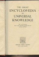 The Great Encyclopaedia Of Universal Knowledge - With 1100 Illustrations And A 22-page Supplement Of Famous Characters I - Dictionaries, Thesauri