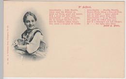"""(109150) AK Gedicht Lied """"D' Sefferl"""" Von Josef Stolz, Vor 1905 - Musica"""