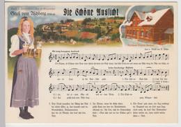 (111649) AK Liedkarte, Schöne Aussicht, A. Böhm, Aschberg, Klingenthal, Ab 1993 - Musica