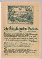 (111684) Künstler AK Liedkarte, So Klingts In Den Bergen, Herbert Roth DDR 1954 - Musica