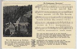 (13576) AK Liedkarte, Dr Frohnaaer Hammer, Alfred Kaaden 1936 - Musica
