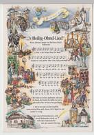 (111691) Künstler AK Liedkarte, S Heilig Obnd Lied, Volksweise, Karte Von 1996 - Musica