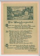(111686) Künstler AK Liedkarte, Die Wandergretel, Herbert Roth DDR 1954 - Musica