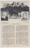 (114730) AK Gedicht >Wanderfahrt< V. Scheffel, Staffelstein, Einsiedelmann 1922 - Musica