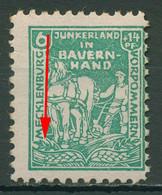SBZ Mecklenburg-Vorpommern 1945 Plattenfehler 23 A II Mit Falz, Gummimängel - Zona Sovietica