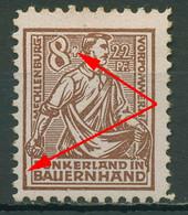 SBZ Mecklenburg-Vorpommern 1945 Plattenfehler 24 A I Mit Falz, Gummimängel - Zona Sovietica