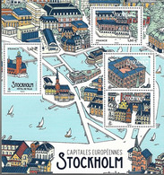 France 2021 -  Yv N° F5477 ** - Bloc-feuillet - Capitales Européennes Stockholm (5477 à 5480) - Ungebraucht