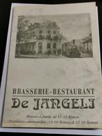 Carte Menu, Brasserie-Restaurant, De Jangli Mondorf-les-bains - Otros