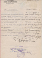 265406 / WWI Bulgaria 1917 Bevollmächtigter - Dienst - Und Fahrausweis , Kriegsministerium Sofia Lom Berkovitsa , - Documentos Históricos