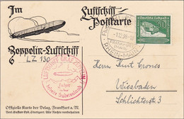 III. Reich:Luftschiff Postkarte LZ 130 Ins Sudetenland - Wiesbaden 1938 - Zonder Classificatie
