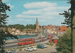 Dänemark - Sønderborg - Views Towards Christian X's Bridge - Cars - VW-Käfer - Ford - DAF ? - Bus - Denmark