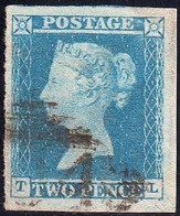 17/  Two Penny Blue  TL  1841  4 Margins Used - Used Stamps