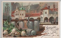 (76094) Künstler AK Kley, Gruß Aus München, Hofbräuhaus, Hof 1898 - Muenchen