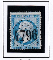 GC 4796 Westhoffen ( Dept 67 ) S / N° 22 Indice Baudot S / L : 20 Soit 500€ - 1849-1876: Klassieke Periode