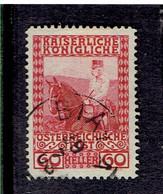 AUTRICHE EMPIRE ( Y&T) 1908-13 - N°113 *  François Joseph 1er à Cheval  *60h  (obli) - Gebruikt