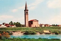 Cartolina - S. Stino Di Livenza - Chiesa Arcipretale E Il Livenza - 1968 - Venezia