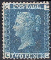 28/  Two Penny Blue  EC  1841  M/m  Plate 14 - Unused Stamps