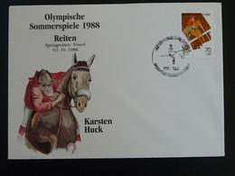 FDC équitation Horse Jumping Jeux Olympiques Seoul 1988 Olympic Games Korea Ref 994 - Verano 1988: Seúl