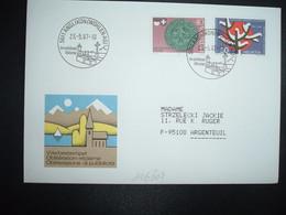LETTRE TP SECOURS SUISSE D'HIVER 50 + SOLOTHURN 40 OBL.23 5 87 ANGLIKON (WOHLEN AG) Im Schonen Bunztal - Postmark Collection