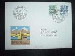 LETTRE TP FACTEUR 80 + POSTE TRI 10 OBL.23 5 87 VAUFFELIN - Postmark Collection